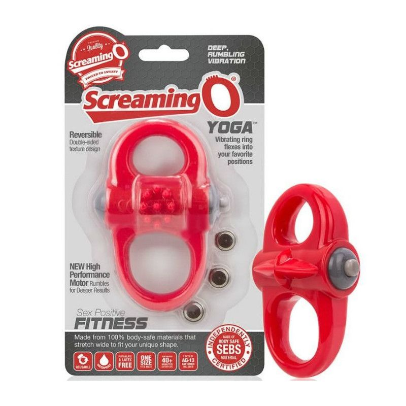 ANNEAU VIBRANT SCREAMING O YOGA ROUGE Cockrings  D-212482-D